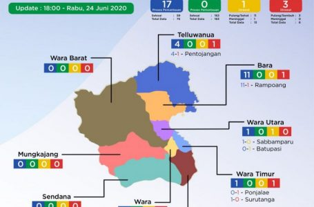 Berhasil dari Zona Kuning ke Zona Hijau, Tiga Warga Kota Palopo Positif Corona