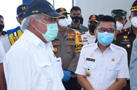 Walikota Palopo Jemput Gubernur NA dan Menteri PUPR
