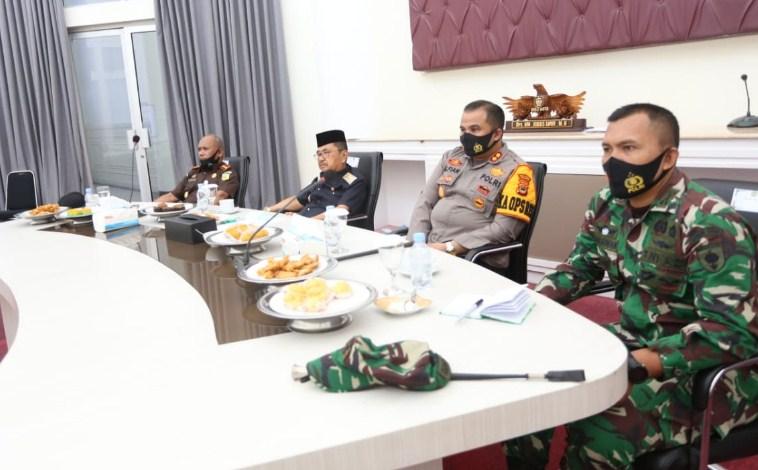 Forkopimda dan Walikota Palopo Rakor Pengamanan dan Penegakan Hukum Protokol Kesehatan Covid-19 Dalam Pilkada Serentak