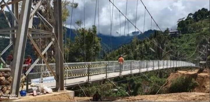 Jembatan Gantung Penghubung Kota Palopo dan Kabupaten Toraja Selesai