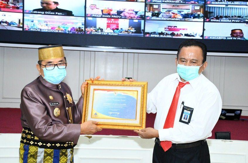 HUT Sulawesi Selatan ke 351, Pemkot Palopo Raih Penghargaan Opini WTP