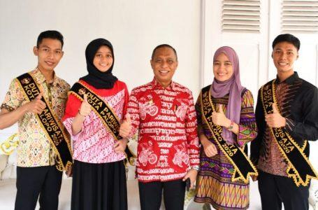 Para Duta Pariwisata Kota Palopo yang ikut pada ajang Duta Wisata Propinsi