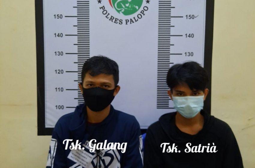 Sabu Lagi, 2 Pemuda Diamankan Sat Narkoba Polres Palopo Di Jalan Kuala Lumpur