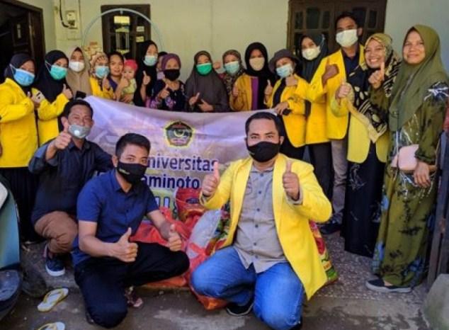 UNCP Peduli, Tunjukkan Empati Kunjungi Korban Gempa Mamuju dan Majene