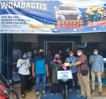 Nasabah WOM Finance Palopo Alamat Bua Luwu Menangkan 1 Unit Sepeda Motor