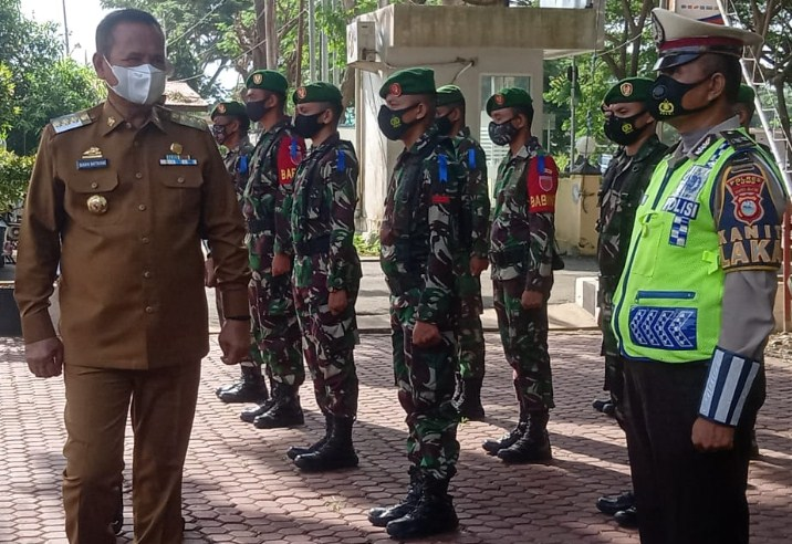 Massifkan Kampanye Larangan Mudik, Bupati Luwu Pimpin Apel Pasukan Polres Luwu