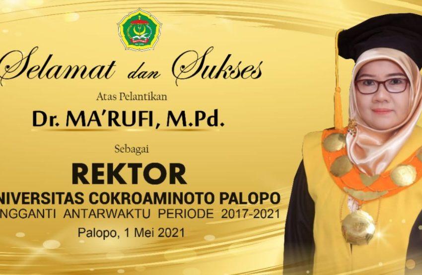 Mantan Dekan FMIPA Jabat Rektor UNCP yang Baru
