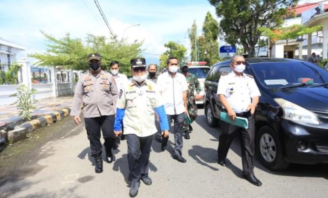 Edukasi Pencegahan Covid-19, Walikota Palopo dan Unsur Forkopimda Turun Langsung ke Kelurahan