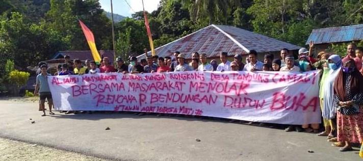 """AMAL Warning Siapa Saja yang Berencana Bangun Bendungan di Dusun Buka dan Tanete, """"Warning Prohibited From Entering do activities"""""""