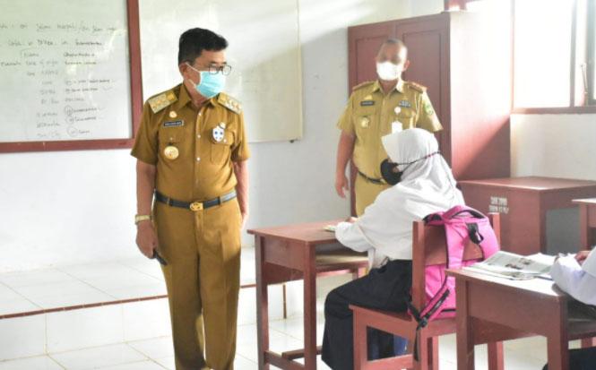 Walikota Pantau Pelaksanaan PTM, Ingatkan Tetap Patuhi Protokol Kesehatan